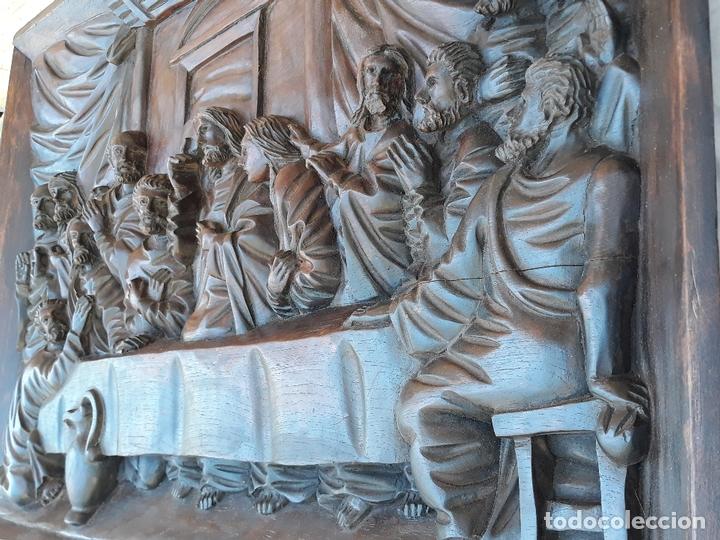 Arte: TALLA GRANDE DE MADERA EN BAJORRELIEVE - LA SANTA CENA - - Foto 11 - 169351720
