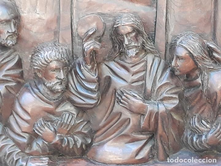 Arte: TALLA GRANDE DE MADERA EN BAJORRELIEVE - LA SANTA CENA - - Foto 12 - 169351720