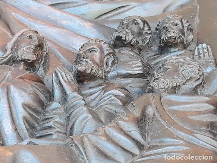 Arte: TALLA GRANDE DE MADERA EN BAJORRELIEVE - LA SANTA CENA - - Foto 13 - 169351720