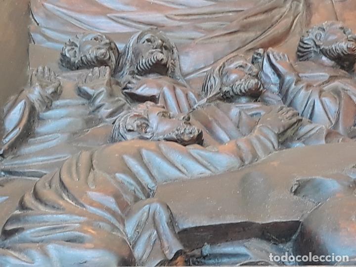 Arte: TALLA GRANDE DE MADERA EN BAJORRELIEVE - LA SANTA CENA - - Foto 14 - 169351720