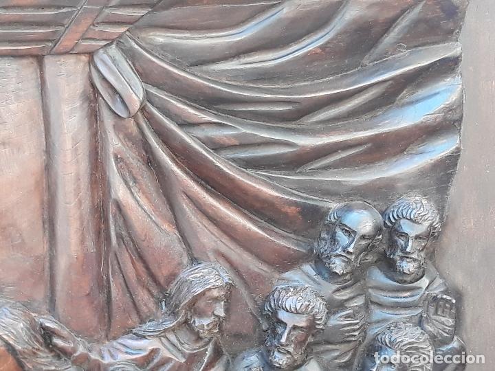 Arte: TALLA GRANDE DE MADERA EN BAJORRELIEVE - LA SANTA CENA - - Foto 15 - 169351720