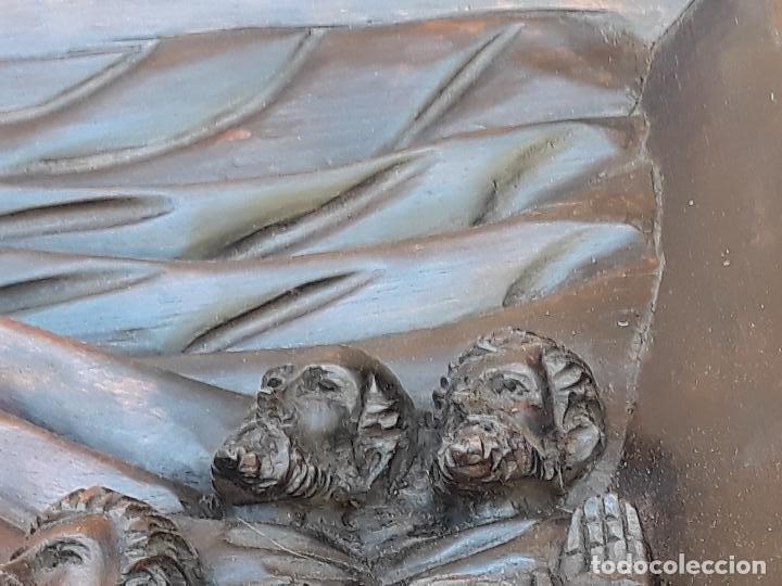 Arte: TALLA GRANDE DE MADERA EN BAJORRELIEVE - LA SANTA CENA - - Foto 18 - 169351720