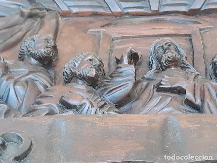 Arte: TALLA GRANDE DE MADERA EN BAJORRELIEVE - LA SANTA CENA - - Foto 19 - 169351720