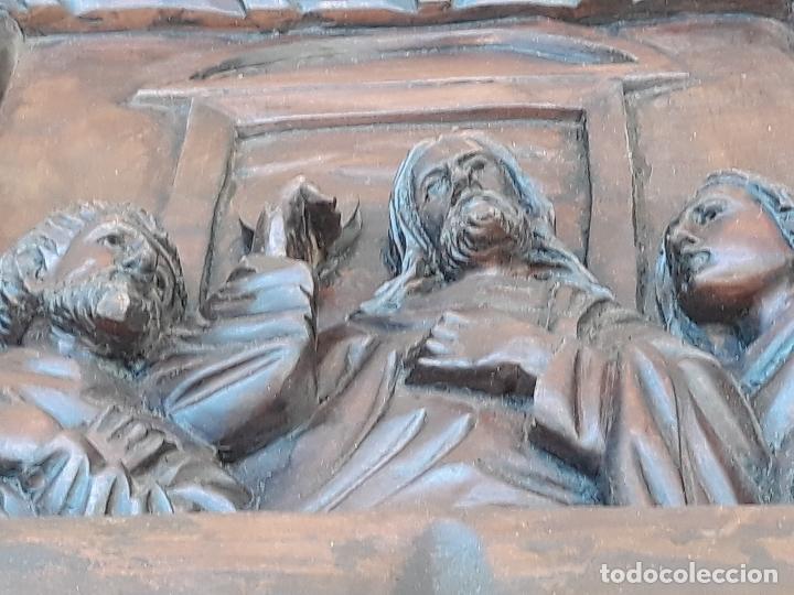 Arte: TALLA GRANDE DE MADERA EN BAJORRELIEVE - LA SANTA CENA - - Foto 20 - 169351720