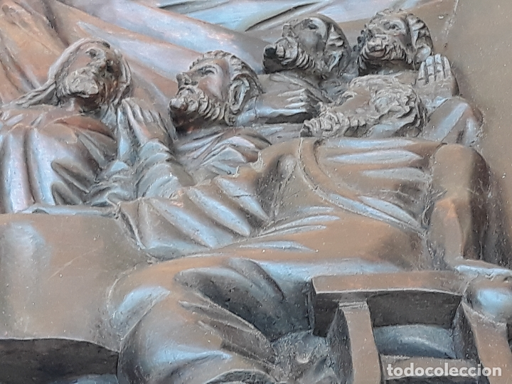 Arte: TALLA GRANDE DE MADERA EN BAJORRELIEVE - LA SANTA CENA - - Foto 21 - 169351720