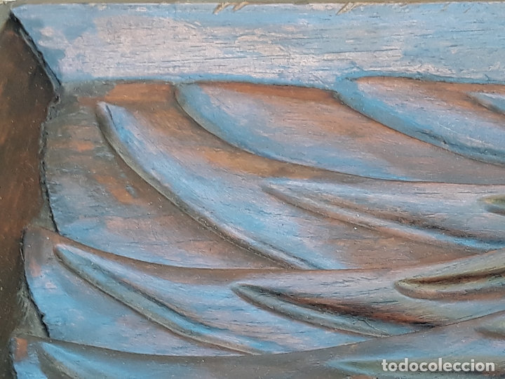 Arte: TALLA GRANDE DE MADERA EN BAJORRELIEVE - LA SANTA CENA - - Foto 22 - 169351720