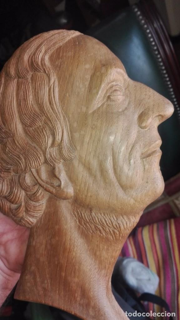 Arte: Espectacular relieve,perfil de hombre en madera - Foto 3 - 167135280