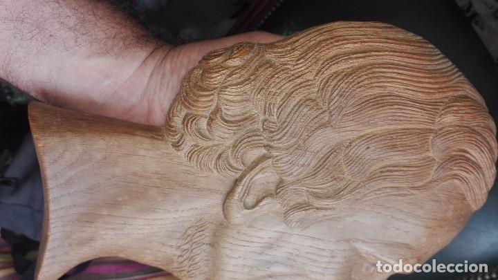Arte: Espectacular relieve,perfil de hombre en madera - Foto 4 - 167135280