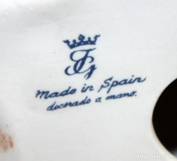 Arte: CONJUNTO DE 3 FIGURAS EN PORCELANA CON MARCA JG Y CORONA (MADE IN SPAIN). CIRCA 1940 - Foto 6 - 169652980