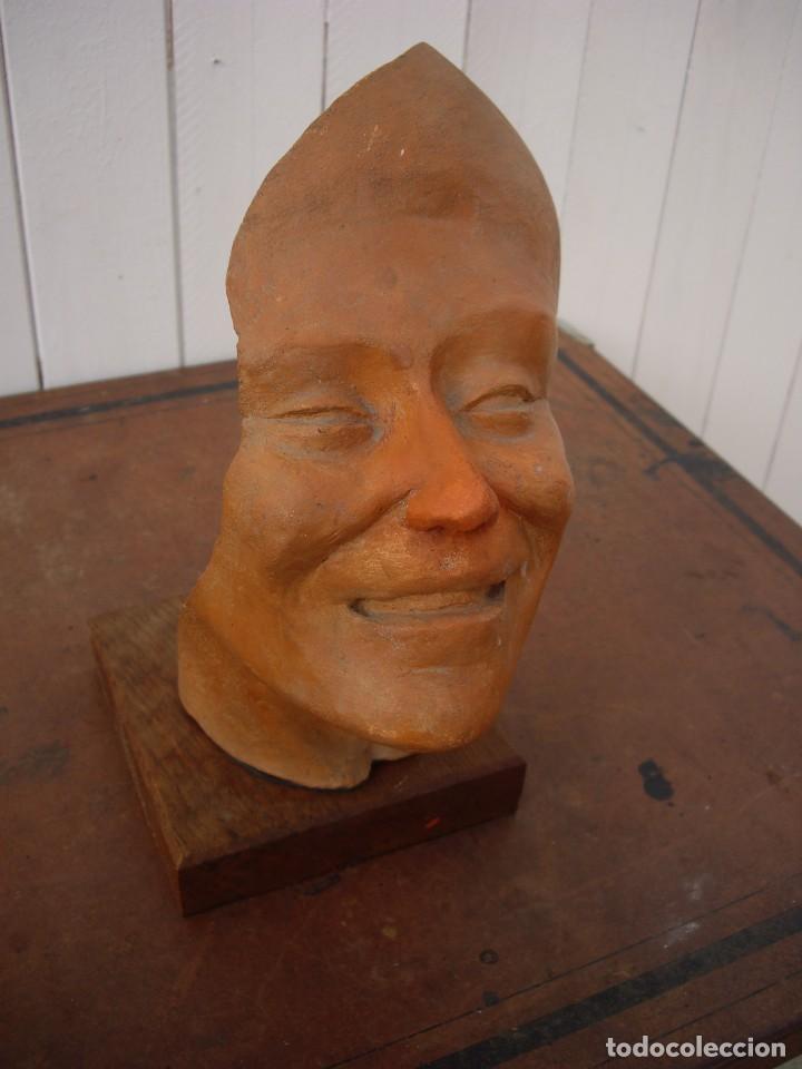 Arte: escultura en terracota firmada unica,norbert treca 1926,escultor frances - Foto 3 - 169959676