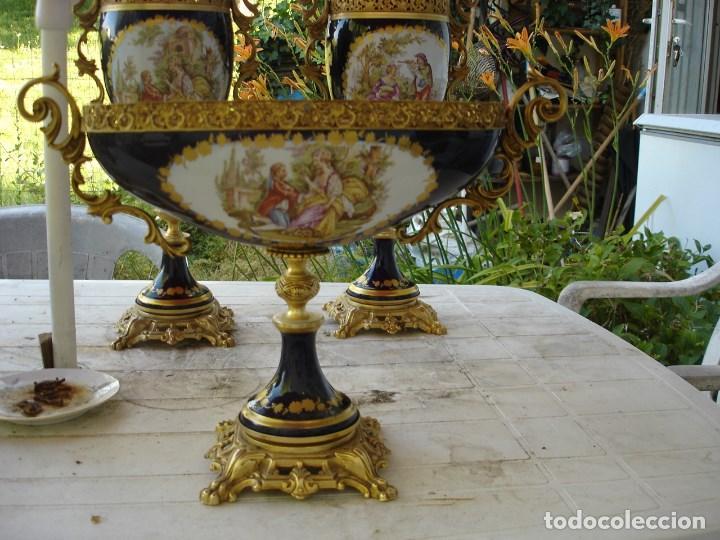 Arte: preciosa guarnicion en porcelana de sevres de coleccion ver fotos - Foto 9 - 170043828