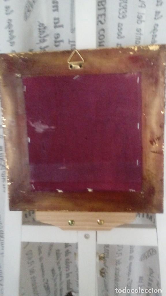Arte: Tres cuadros-medallon en pan de oro y marmol hechos a mano - Foto 4 - 170407484