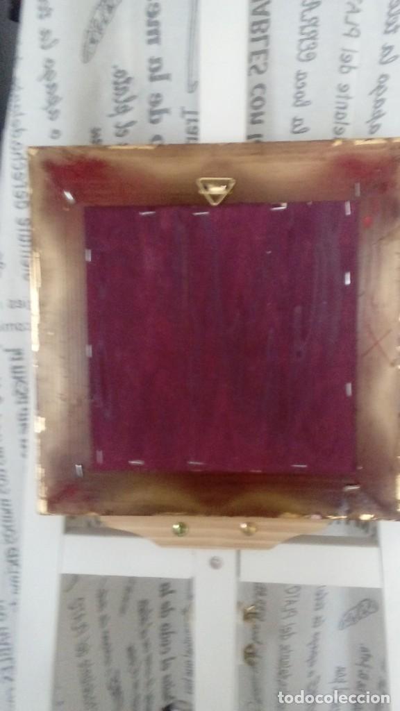 Arte: Tres cuadros-medallon en pan de oro y marmol hechos a mano - Foto 7 - 170407484