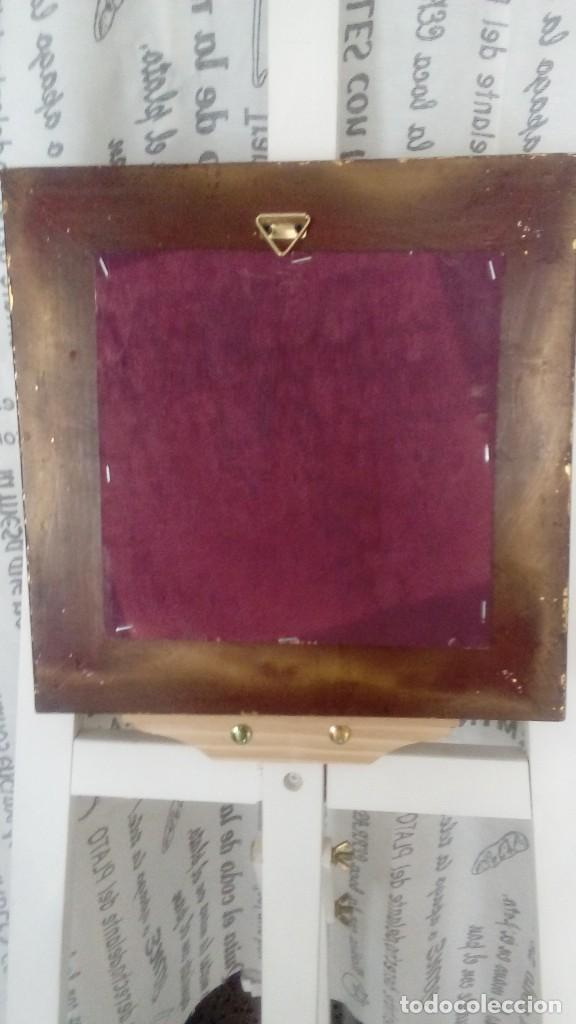 Arte: Tres cuadros-medallon en pan de oro y marmol hechos a mano - Foto 10 - 170407484