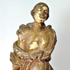 Arte: MUJER. ESCULTURA EN MADERA. POLICROMÍA ORIGINAL. ITALIA (?). XVII-XVIII. Lote 170498740