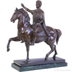 Arte: MONUMENTAL BRONCE DEL EMPERADOR ROMANO MARCO AURELIO A CABALLO (50CM & 16KG). Lote 170874125
