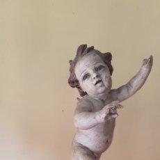 Arte: TALLA MADERA ANGEL QUERUBIN XVII. Lote 170972904