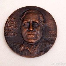 Arte: JULIO LOPEZ HERNANDEZ - RAMON GOMEZ DE LA SERNA - REAL CASA DE LA MONEDA - 1967 - MONEDA MEDALLA. Lote 171102614