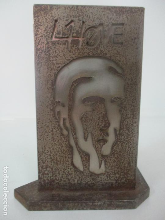 Arte: Escultura Hierro y Acero Inox - Firma Domenech Fita Molat (Girona 1927) - L´Home, La Dona - Foto 3 - 171116932