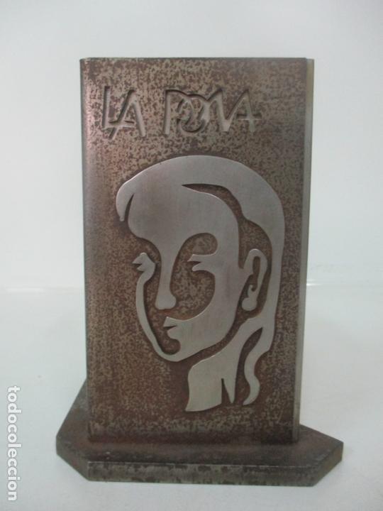 Arte: Escultura Hierro y Acero Inox - Firma Domenech Fita Molat (Girona 1927) - L´Home, La Dona - Foto 4 - 171116932
