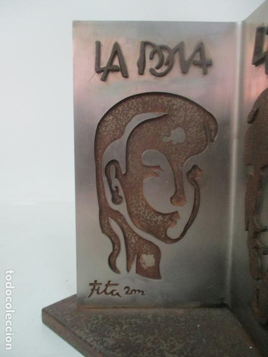 Arte: Escultura Hierro y Acero Inox - Firma Domenech Fita Molat (Girona 1927) - L´Home, La Dona - Foto 5 - 171116932