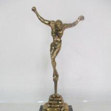 Arte: SALVADOR DALÍ DOMENECH - CRISTO SAN JUAN DE LA CRUZ - FIGURA BRONCE -CON CERTIFICADO DE AUTENTICIDAD. Lote 171287323