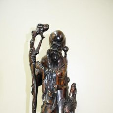 Arte: FIGURA, ESCULTURA TAILANDESA DE MADERA TALLADA. Lote 171383008