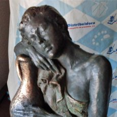 Arte: FIGURA EN BRONCE PATINADO SOBRE PEDESTAL. SERIE LIMITADA. Lote 171776753