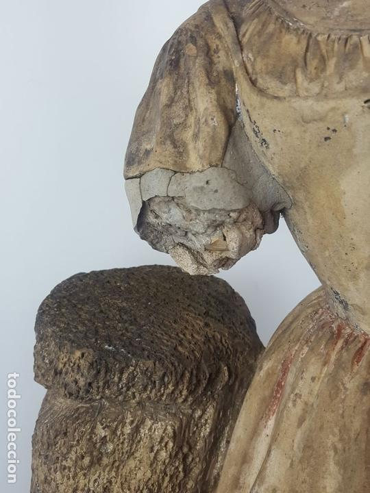 Arte: FUENTE DE TERRACOTA. NIÑA TOCANDO ZAMBOMBA. ESTILO ROCOCO. FRANCIA. SIGLO XVIII-XIX. - Foto 5 - 171989873