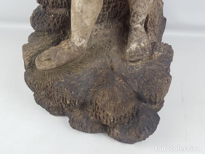 Arte: FUENTE DE TERRACOTA. NIÑA TOCANDO ZAMBOMBA. ESTILO ROCOCO. FRANCIA. SIGLO XVIII-XIX. - Foto 8 - 171989873