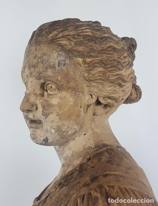 Arte: FUENTE DE TERRACOTA. NIÑA TOCANDO ZAMBOMBA. ESTILO ROCOCO. FRANCIA. SIGLO XVIII-XIX. - Foto 13 - 171989873