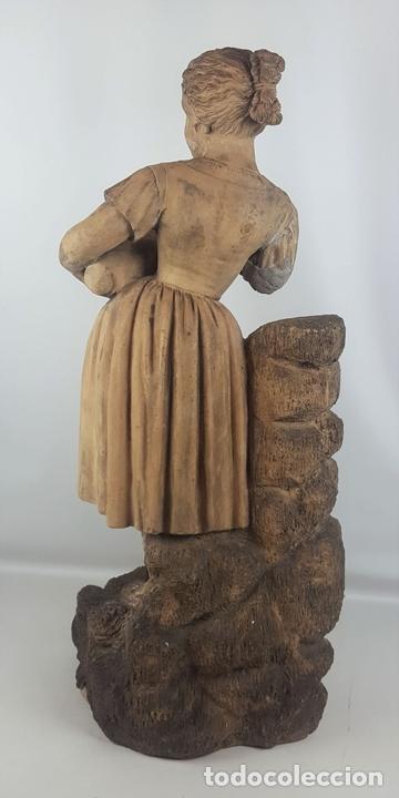 Arte: FUENTE DE TERRACOTA. NIÑA TOCANDO ZAMBOMBA. ESTILO ROCOCO. FRANCIA. SIGLO XVIII-XIX. - Foto 15 - 171989873
