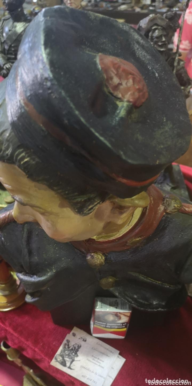 Arte: Busto de terracota de soldado de artillería época Alfonso XIII con gorro panadero - Foto 3 - 172884170