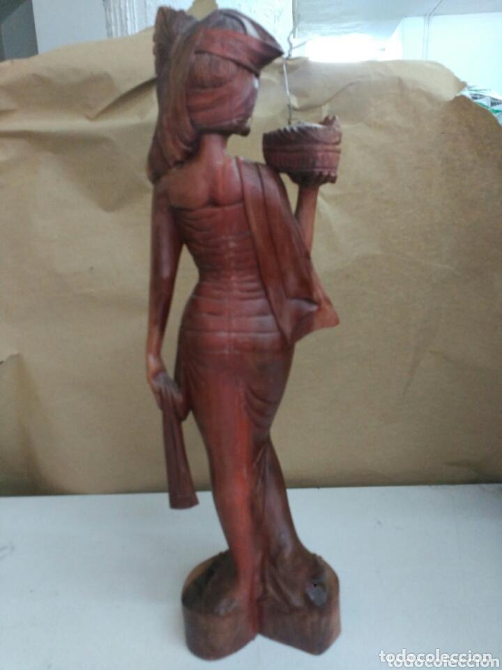 Arte: Figura tallada en madera de indonesia - Foto 4 - 173101602