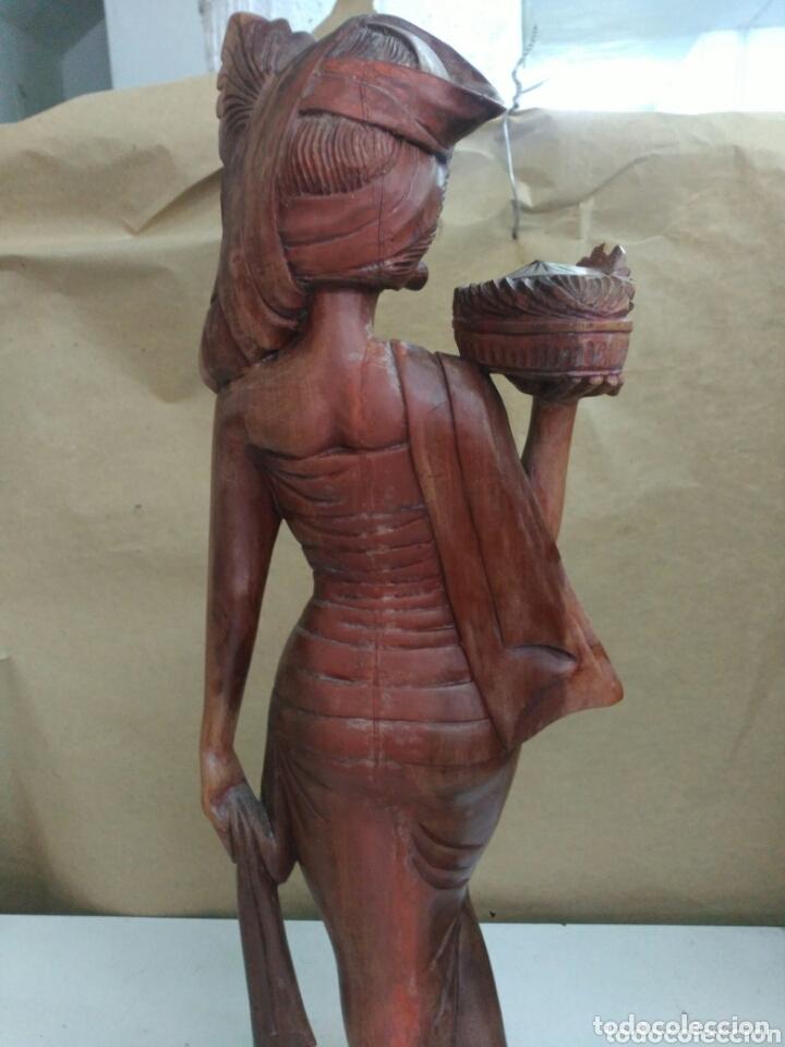 Arte: Figura tallada en madera de indonesia - Foto 6 - 173101602