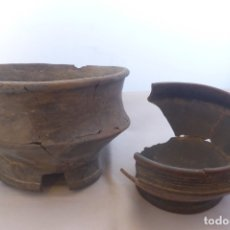 Arte: 2 VASIJAS EN ESTADO IMPERFECTO PRECOLOMBINAS, CULTURA TAIRONA (COLOMBIA). Lote 173209130
