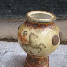 Arte: ANTIGUO JARRON O ANFORA ALEMAN FIRMADO RW RUDOLSTADT ALEMANIA SIGLO XIX CON BELLAS PINTURAS CLASICAS. Lote 192760446