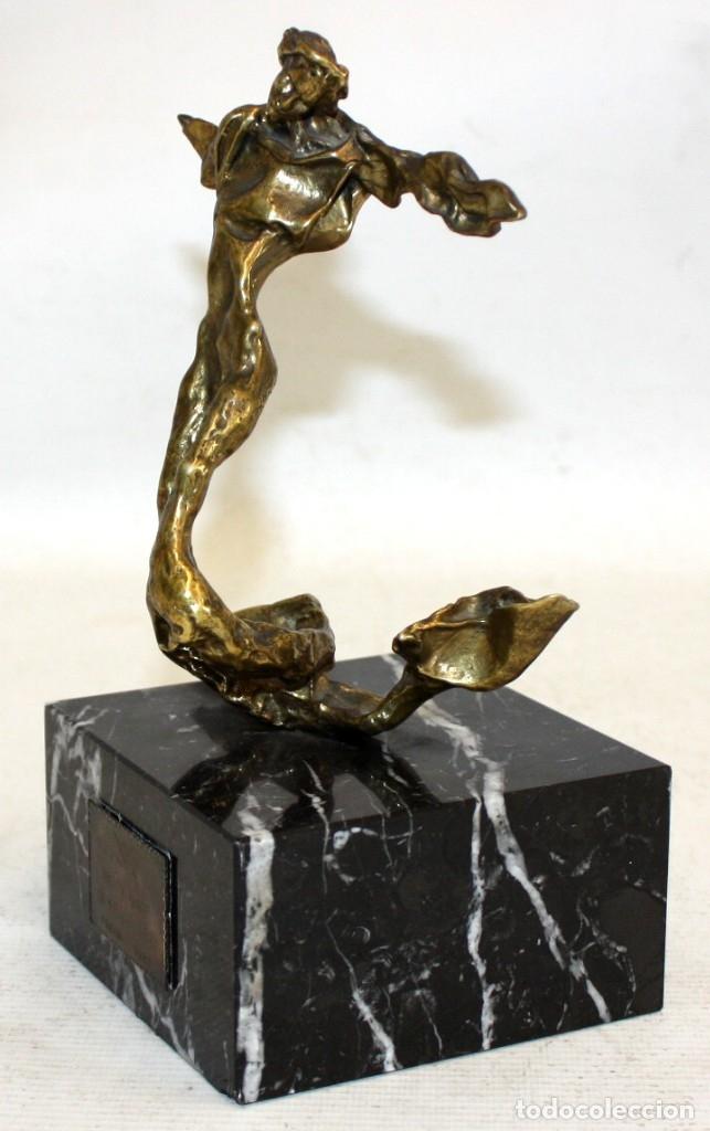 Arte: SALVADOR DALÍ DOMÈNECH (1904-1989) -Triton alado- ESCULTURA EN BRONCE NUMERADA F-062/100 - Foto 5 - 173654555