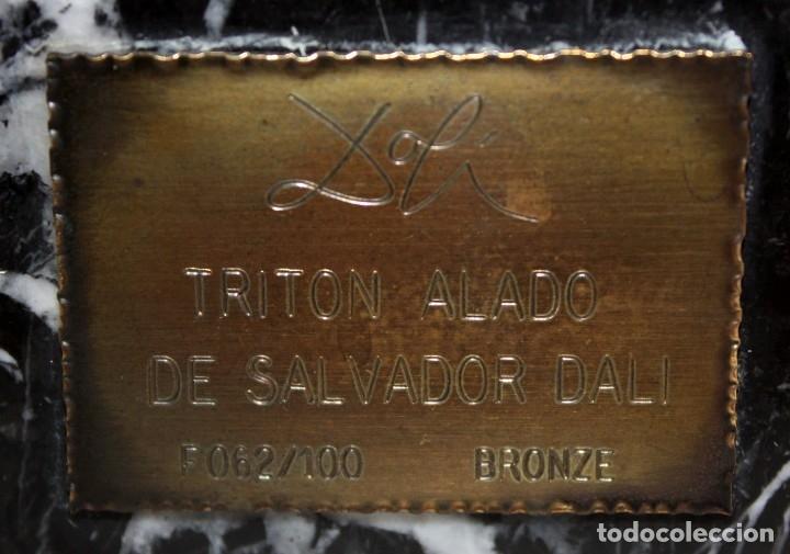 Arte: SALVADOR DALÍ DOMÈNECH (1904-1989) -Triton alado- ESCULTURA EN BRONCE NUMERADA F-062/100 - Foto 9 - 173654555