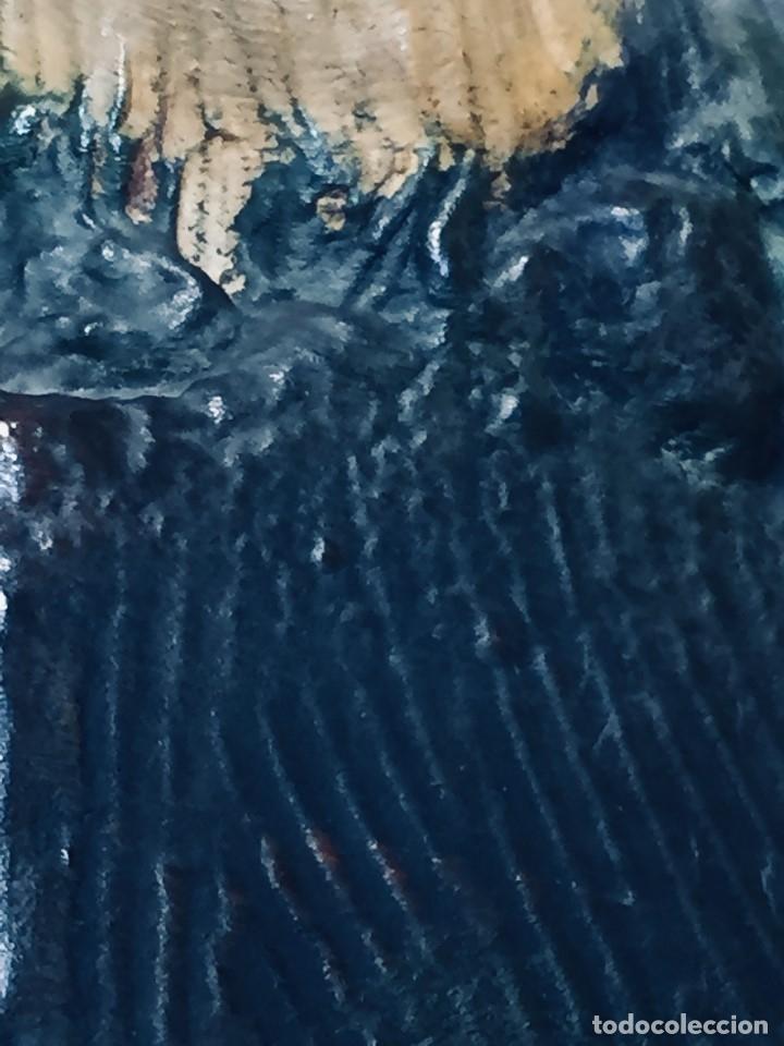 Arte: escultura terracota chico negro color americano sombrero copa sentado firma goldscheider austria 37c - Foto 10 - 173715164