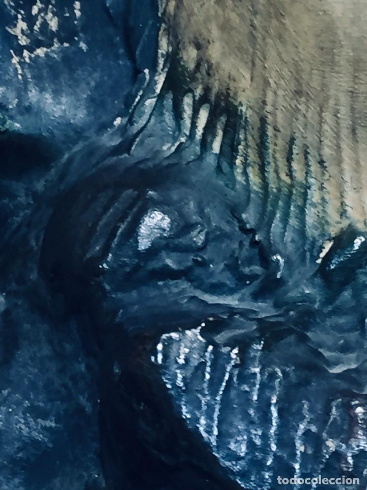 Arte: escultura terracota chico negro color americano sombrero copa sentado firma goldscheider austria 37c - Foto 12 - 173715164