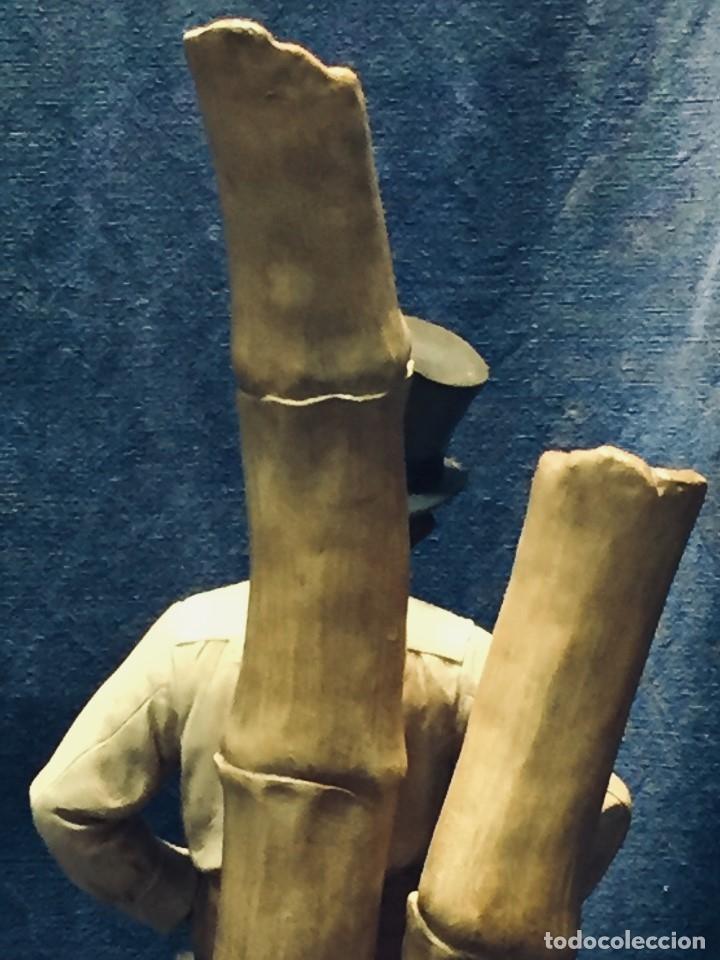 Arte: escultura terracota chico negro color americano sombrero copa sentado firma goldscheider austria 37c - Foto 16 - 173715164