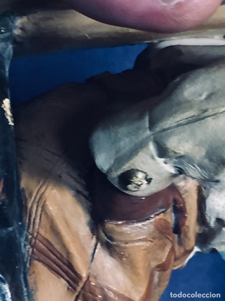 Arte: escultura terracota chico negro color americano sombrero copa sentado firma goldscheider austria 37c - Foto 18 - 173715164