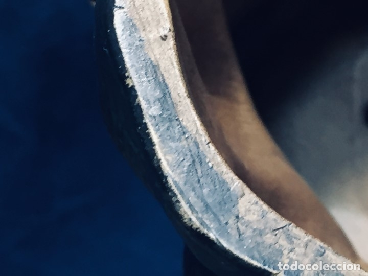 Arte: escultura terracota chico negro color americano sombrero copa sentado firma goldscheider austria 37c - Foto 21 - 173715164