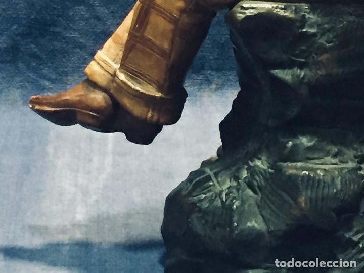 Arte: escultura terracota chico negro color americano sombrero copa sentado firma goldscheider austria 37c - Foto 39 - 173715164