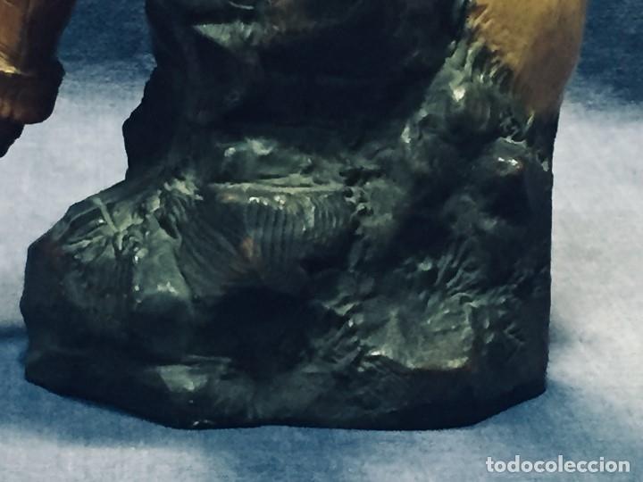 Arte: escultura terracota chico negro color americano sombrero copa sentado firma goldscheider austria 37c - Foto 40 - 173715164