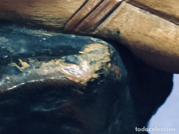 Arte: escultura terracota chico negro color americano sombrero copa sentado firma goldscheider austria 37c - Foto 52 - 173715164