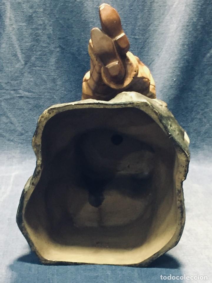 Arte: escultura terracota chico negro color americano sombrero copa sentado firma goldscheider austria 37c - Foto 59 - 173715164