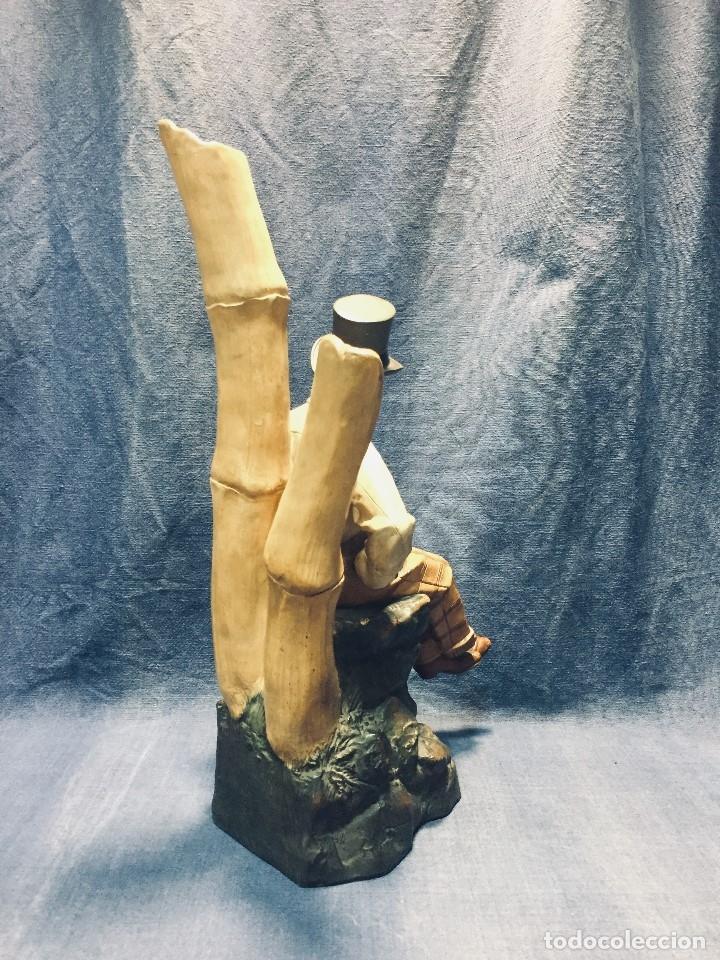 Arte: escultura terracota chico negro color americano sombrero copa sentado firma goldscheider austria 37c - Foto 64 - 173715164