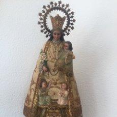 Arte: IMPORTANTE TALLA DE LA VIRGEN DE LOS DESAMPARADOS, CON SELLO DEL ESCULTOR S. XIX.. Lote 173846279